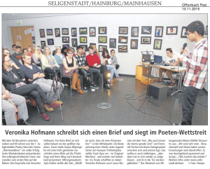 Poetry Slam Seligenstadt in der Offenbach Post